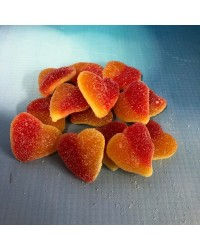 Sour Peach Hearts Gummy Candy lollies