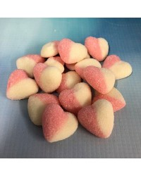 Pink and White Hearts Gummy Candy lollies