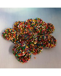 Chocolate speckles with Rainbow Non Pareils