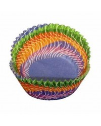 Wonderful Waves rainbow standard cupcake papers by PME