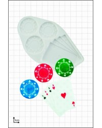 Casino poker chips and playing cards silicone mould