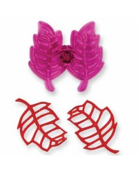 Jem Lacey Lacy Leaves filigree leaf cutter set of 2 leaves