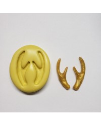 Tiny antlers silicone mould for isomalt by Simi Cakes