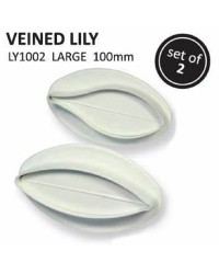 PME FLORAL PLUNGER CUTTERS Large VEINED LILY SET OF 2 100MM