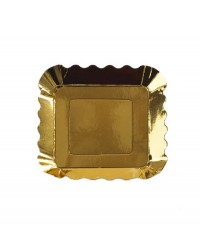 Metallic Appetiser plate small Gold