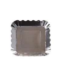 Metallic Appetiser plate small Silver
