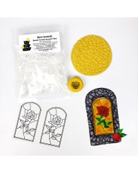 Isomalt Stained Glass Rose Cookie Kit by Simicakes