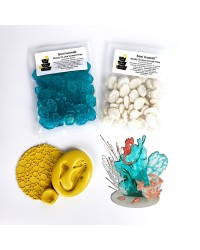 Corals and sea accessory isomalt showpiece kit by Simicakes