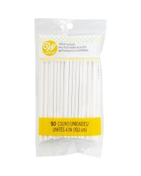 4 inch lollipop sticks pack of 50 by Wilton