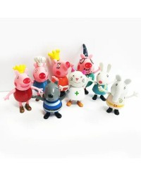 Peppa Pig friends cake topper figurines set 8