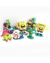 Spongebob and friends cake topper figurines set 8