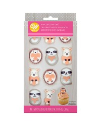 Royal icing decorations Sloth Llama Hedgehog (12)