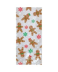 Gingerbread men Christmas treat bags pack of 20 large