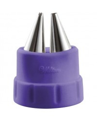 image: Duo tip Wilton coupler set includes 2 metal piping tip nozzles