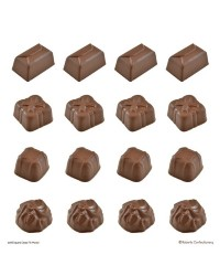 Deep fill square and rectangle truffle chocolate mould