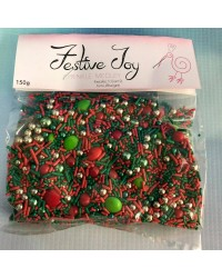 Sprinkle Medley Festive Joy (Red/Green/Gold Christmas) 150g