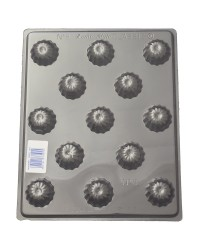 Fluted Dome deep Truffle chocolate mould