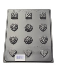 Hearts and more deep Truffle chocolate mould