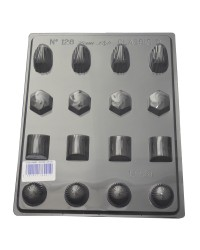 Whirls deep Truffle chocolate mould
