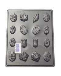Flower and leaves truffle variety chocolate mould
