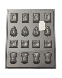 Traditional fluted truffle variety chocolate mould