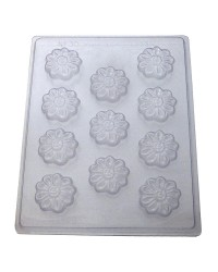 Daisy flower blossoms chocolate mould