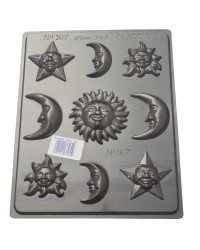 Sun Moon and stars chocolate mould style no 1