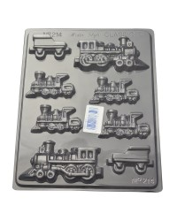 Trains chocolate mould