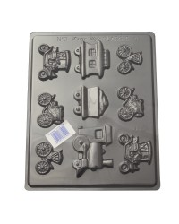 Vintage cars and Trains chocolate mould