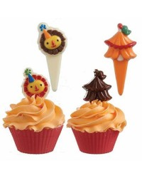 Lion and big top circus cupcake pick chocolate mould