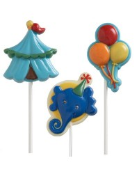 Elephant and big top circus lollipop chocolate mould