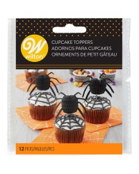 Spider honeycomb paper cupcake toppers