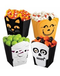 Halloween set of 4 popcorn or treat boxes