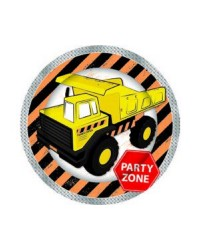 Construction vehicle party plates (8)