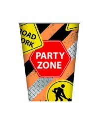 Construction vehicle party cups (8) 250ml