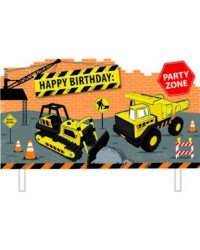 Construction vehicle party cake topper