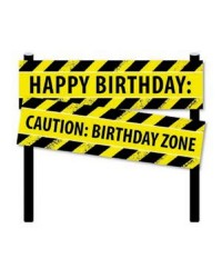 Construction ZONE party cake topper