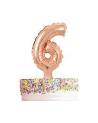 Rose gold number balloon cake topper 6
