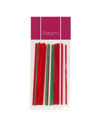 Lollipop sticks 6 inch RED/GREEN/WHITE (25)
