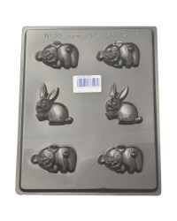 Pigs and bunny rabbits chocolate mould