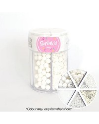 White sprinkle collection 6 cell container
