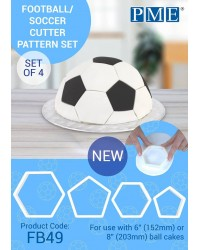 PME Soccer cutter set of pentagon and Hexagon