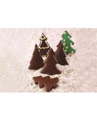 Christmas pine tree silicone chocolate mould by Silikomart