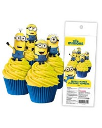 Minions pack 16 wafer paper cupcake toppers