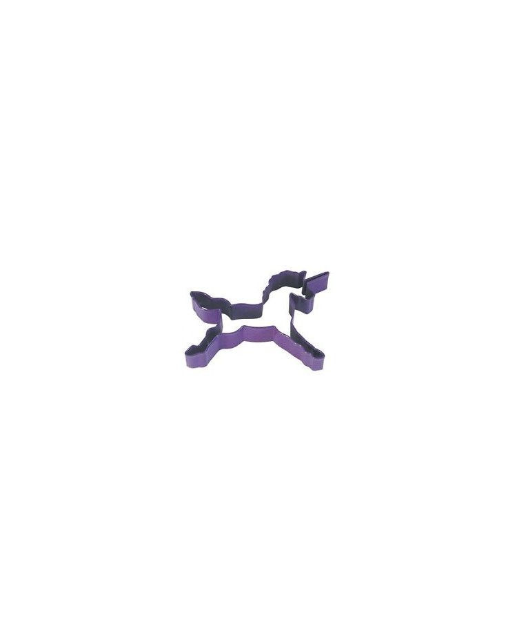 image: Unicorn cookie cutter Use for horse too Purple metal