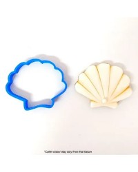 Seashell scallop or clam type shell cookie cutter