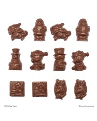 Christmas assorted small shapes chocolate mould