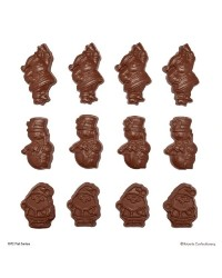 Christmas Santa and Snowmen flat back chocolate mould