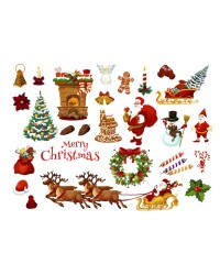 Character edible icing image sheet Christmas
