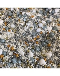 Sprinkle Medley Great Gatsby Art Deco (gold silver white) 150g